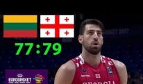 [ისტორია] საქართველოს ნაკრების პირველი  მატჩი 2017 წლის Eurobasket-ზე  ლიეტუვასთან [VIDEO]