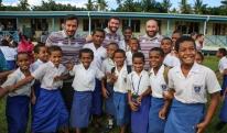 """""""ბორჯღალოსნები"""" სუვაში დრაიბას სკოლის მოსწავლეებს ესტუმრნენ"""