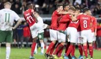 შვეიცარიის ნაკრებმა ირლანდიას მძიმე ბრძოლაში მოუგო [VIDEO]
