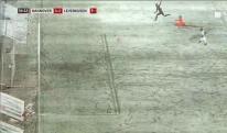 კურიოზული შემთხვევა ბუნდესლიგაში: თოვლმა ბურთი კარის ხაზზე გააქვავა [VIDEO]