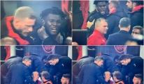 """""""მილანის"""" სათადარიგოთა სკამზე ფეხბურთელებმა ერთმანეთისკენ გაიწიეს [VIDEO]"""