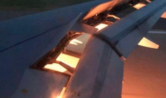 საუდის არაბეთის ნაკრების თვითმფრინავს ხანძარი გაუჩნდა [VIDEO]
